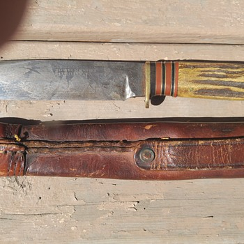 found at Estate Sale: circa 1848 to the 1860's antique knife George Wostenholm & Son IXL Washington Works - Tools and Hardware