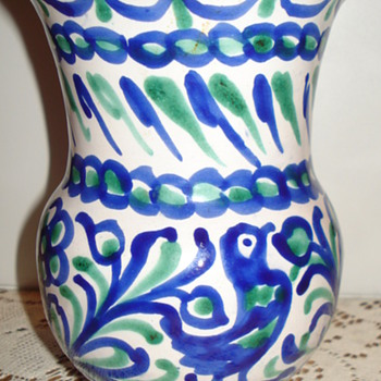 BEAUTIFUL BLUE VASE - Art Pottery