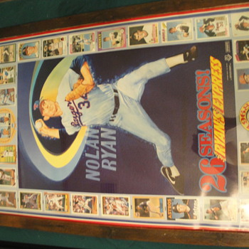 Nolan Ryan 26 Seasons Ryan Express Poster/cards  - Baseball