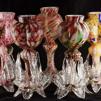 Welz Tri-lobed Hearts - 10 of 16 identified Décors - Art Glass