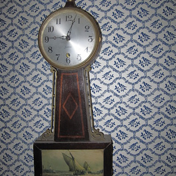 My Old Sessions Banjo Clock Antique - Clocks