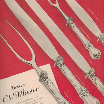 1950 Towle Sterling Advertisement - Old Master - Advertising