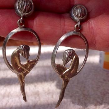 Silver stamped earrings. - Fine Jewelry