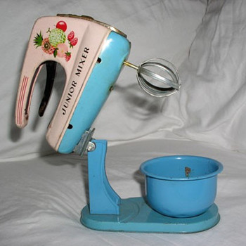 Tin Junior Mixer Toy with Stand and Bowl - Kitchen