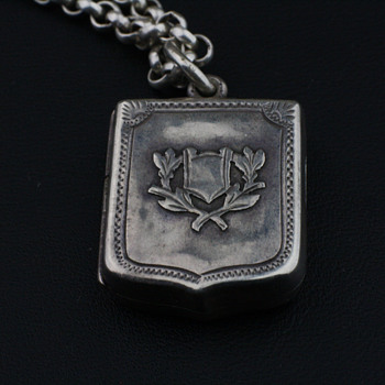 Antique English silver locket
