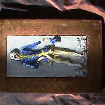 Signed Italian Ceramic Figural Tile - Pottery