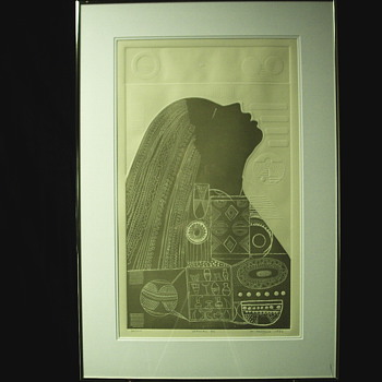 "INTAGLIO Print""Mathias Muleme""#34/150-1986 - Visual Art"