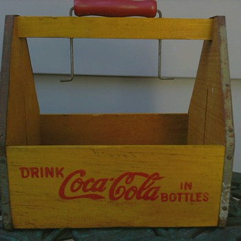 1941 Wood Coca Cola Bottle Carrier - Coca-Cola