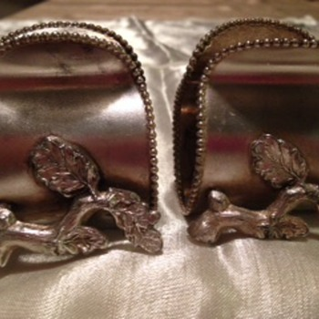 The VanBerg Company Quadruple Plate Antique Napkin Rings - Received as a gift when I was collecting these about 15 years ago. - Sterling Silver