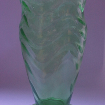 Webb Green Vase - Art Glass