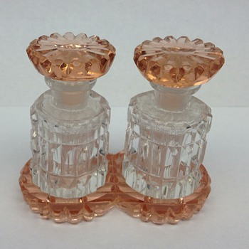 Vintage Czech mini perfume bottle set