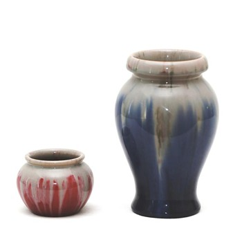 Drip Glaze Vases, Michael Andersen (Denmark), 1924