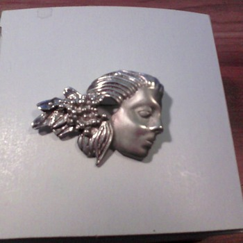 Mexican silver brooch