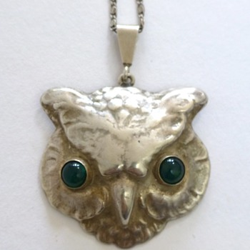 Bernhard Hertz silver owl pendant, and some more owls - Fine Jewelry