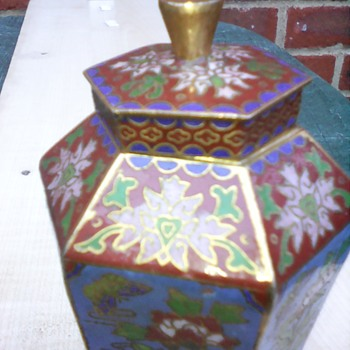 My cloisonne canister