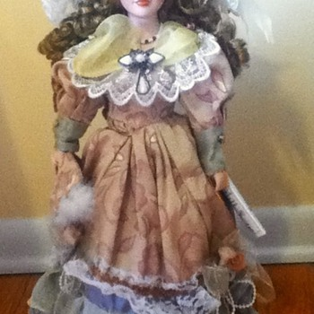 Dark Blonde Duck House Porcelain Doll