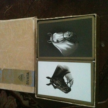 1939 riviera boxed set of thoroughbred playing cards