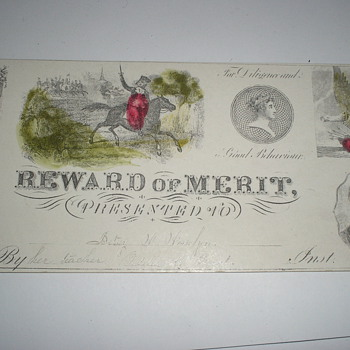 Early American Reward of Merit - Paper