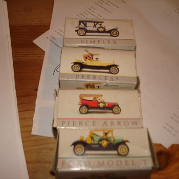 Vintage Toy Cars in Boxes