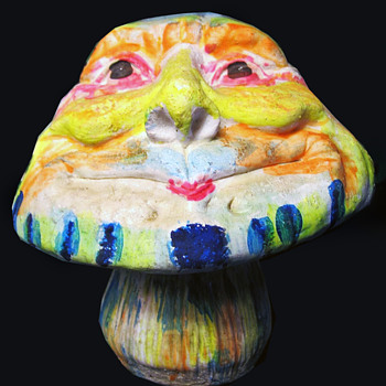 Vietnam Vet's 1960s - early 1970s Painted Magic Mushroom Folk Art.  - Folk Art