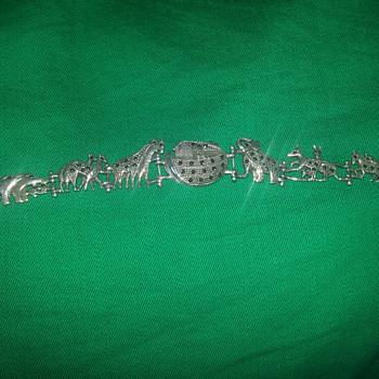 STERLING SILVER MARCASITE NOAHS ARK BRACELET - Fine Jewelry