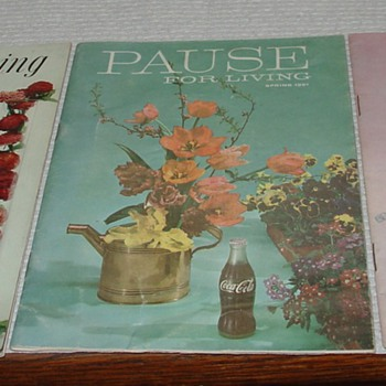 Coca-Cola...Pause for Living...Summer 1960...Spring 1961...Summer 1962 Booklets - Coca-Cola