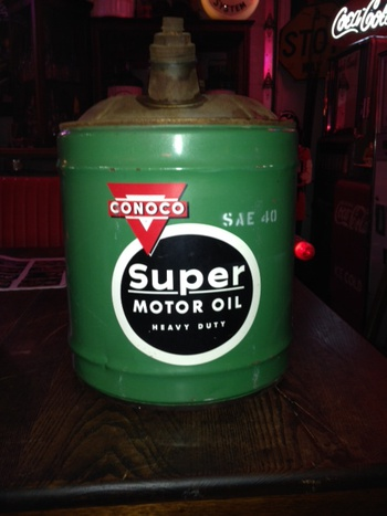 Conoco Super Motor Oil Five Gallon Can Sae 40 1960 39 S