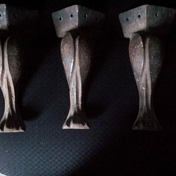 Cast iron legs.