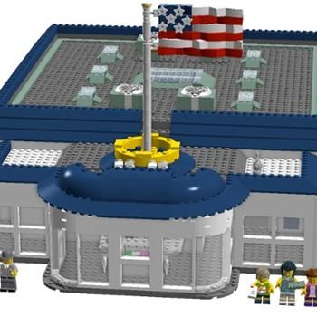 USPS Office in LEGO