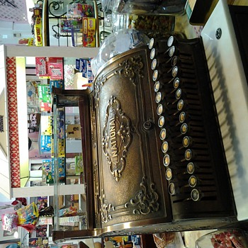 Awesome brass cash register - Coin Operated