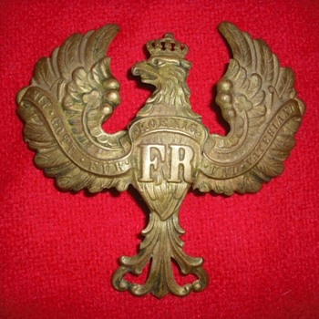 Legless Prussian Eagle Helmet Plate