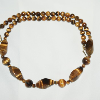 Vintage Tiger's Eye Choker Necklace