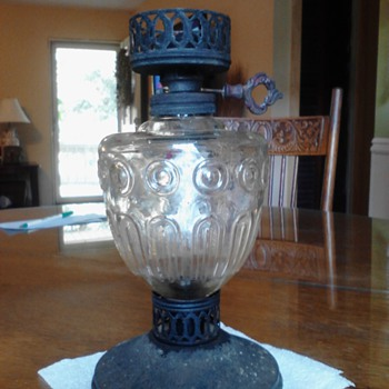 Help! Oil lamp - antique? Or reproduction?