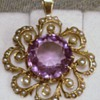 Victorian Amethyst and Seed Pearl Pendant
