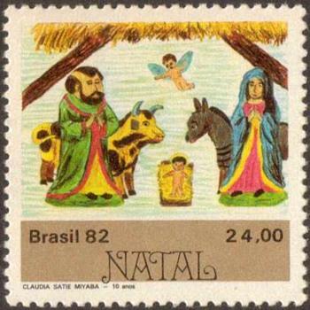"""1982 - Brazil """"Christmas"""" Postage Stamps"""