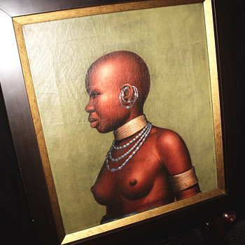 "Sud African Tribe Young Girl""Mid XiX""Anonymous"
