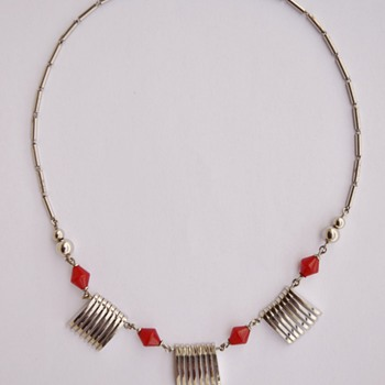 Art Deco Machine Age Jakob Bengel Necklace - 1930's