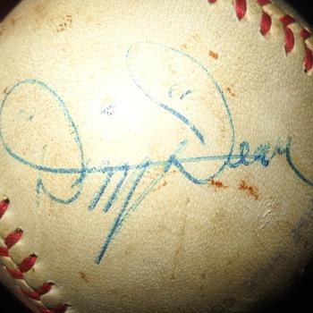 Autograph of Dizzy Dean