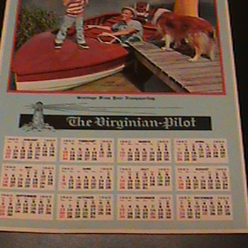 1963 Calender From The Virginian Pilot Calendar