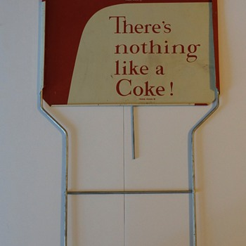1958 Coca Cola display sign.