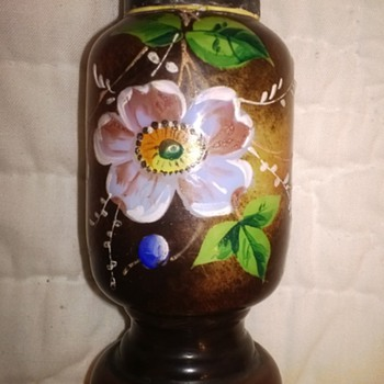 Highly Decorated Milk Glass Shaker - Art Glass