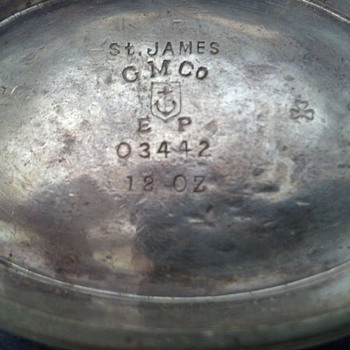 St. James G.M Co, EP- 12oz  sugar bowl... unknown ID?? 
