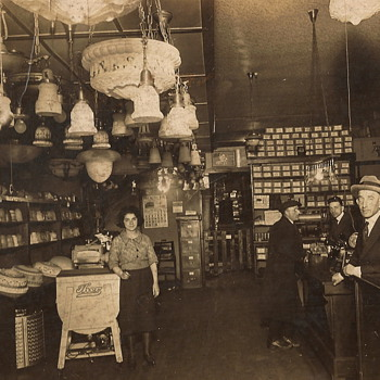 Electrial Service Store, c. 1923,  and Fur Shop, c.1930 - Photographs