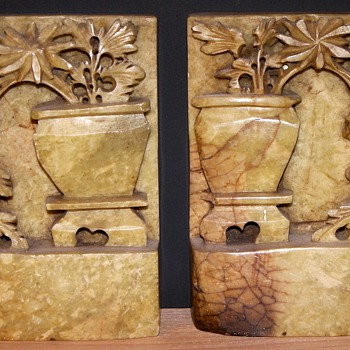Vintage Saopstone Carvings - Asian