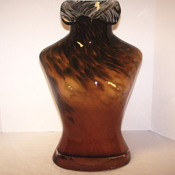 "Huge glass vase"" Woman Bust""Murano ?????"