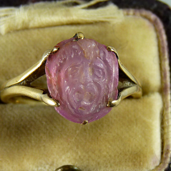 A Gold Ring set with an Ancient Carved Hardstone of Medusa - But How Ancient?