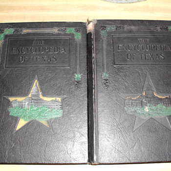 Encyclopedia of Texas Vols. 1 & 2, 1922 - Books