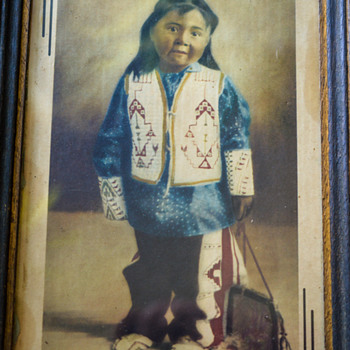 Young Indian Girl Print? Looks Navajo