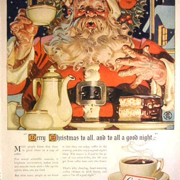 J.C. LEYENDECKER AND COFFEE ADS FROM THE 40'S - Paper