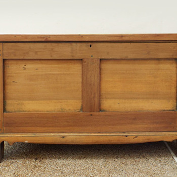 Antique Poplar Chest mortise tenon pegged